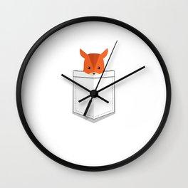 Cute Animal Pocket Fawn Wall Clock