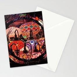 bright lights Stationery Cards