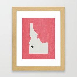 Idaho Love Framed Art Print