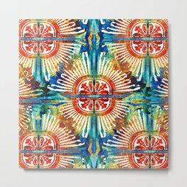 Pattern Art - Color Fusion Design 2 By Sharon Cummings Metal Print
