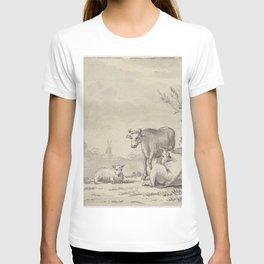 Pieter de Goeje - Landschap met man met koe T-shirt