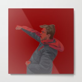 Klopp Celebrating Metal Print