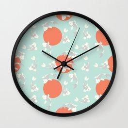 Koi fish pattern 005 Wall Clock