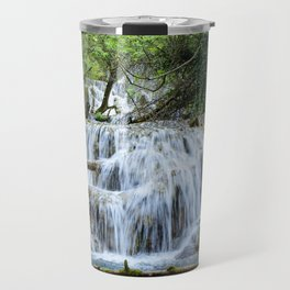 Forest waterfalls Travel Mug