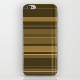 Brown Plaid iPhone Skin