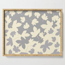 Envelope leaves decor. Grey. off-white. Serving Tray
