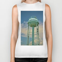 Tower And Clouds Biker Tank