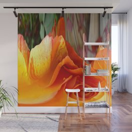 492 - Abstract Orange and Yellow Rose Wall Mural