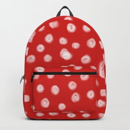Basic red and white dots love valentines day minimal polka dot pattern Backpack