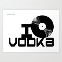 vodka Art Prints featuring LOVE VODKA by Giovanni Potenza