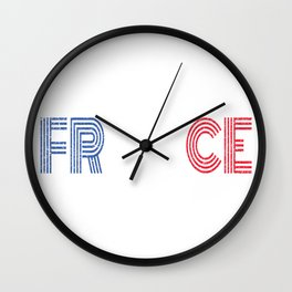 France Flag Vintage Frence Retro Gift Wall Clock