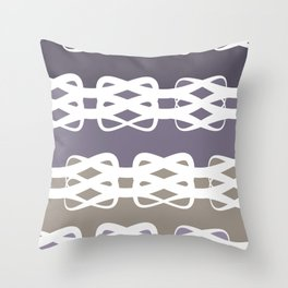 Lavender Knots Throw Pillow
