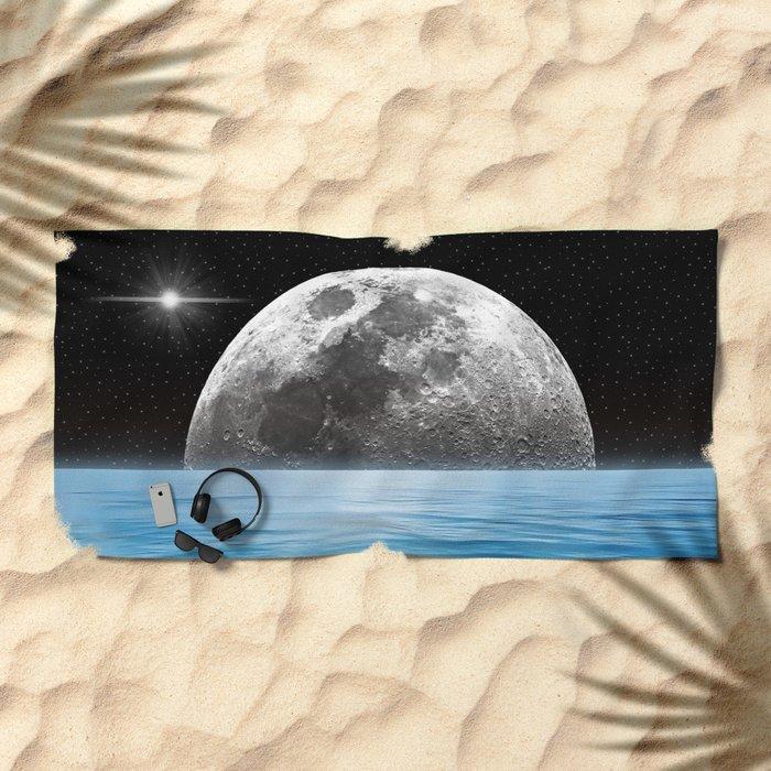 Moon Ocean Beach Towel