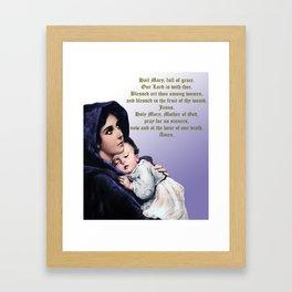 Prayer to Virgin Mary Framed Art Print