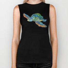 Sea Turtle 4 Biker Tank