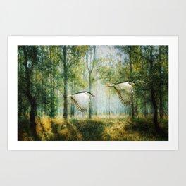Magical Forests Impressionism Art Print