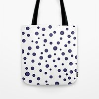 dots Tote Bags featuring Dots by Monika Strigel