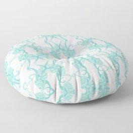 Blue Octacluar Octopus Floor Pillow