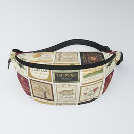 Wine Labels Fanny Pack
