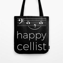 Happy cellist (dark colors/bass clef) Tote Bag