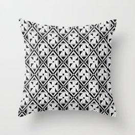 symetric tartan and gingham 23 -vichy, gingham,strip,square,geometric, sober,tartan Throw Pillow