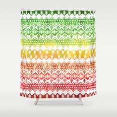 One Love Tribal {white} Shower Curtain