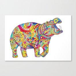 Hippo: Spirit of Confidence Canvas Print