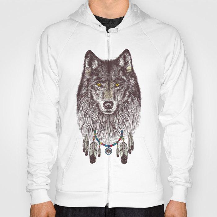 Wind Catcher Wolf Hoody