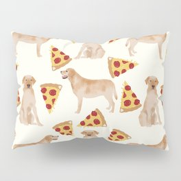 yellow lab pizza cute funny dog breed pet pattern labrador retriever Pillow Sham