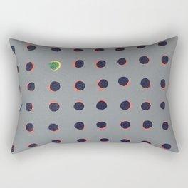 'Green floats on yellow' Acrylic on canvas Rectangular Pillow