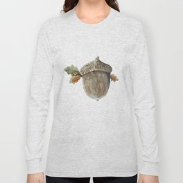 Fall acorn and oak leaves Long Sleeve T-shirt