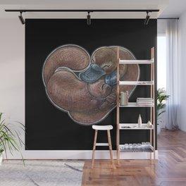 Platypus Romance Wall Mural