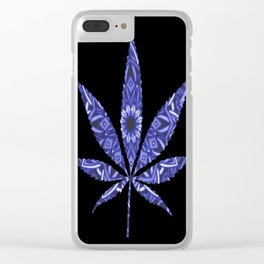 Weed : High Times Blue Floral Clear iPhone Case