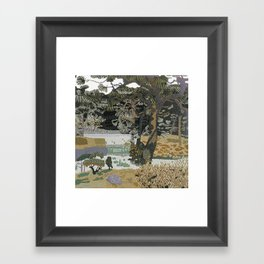 Garden Forest Framed Art Print