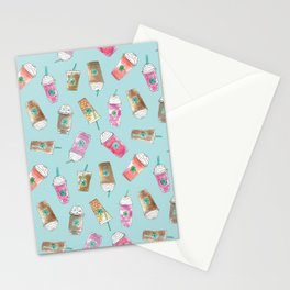 Coffee Crazy Toss in Blueberry Stationery Cards