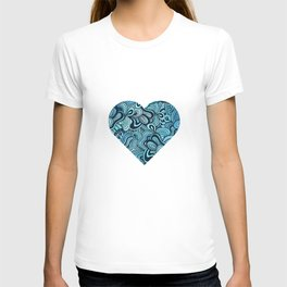 blue waves ethnic T-shirt