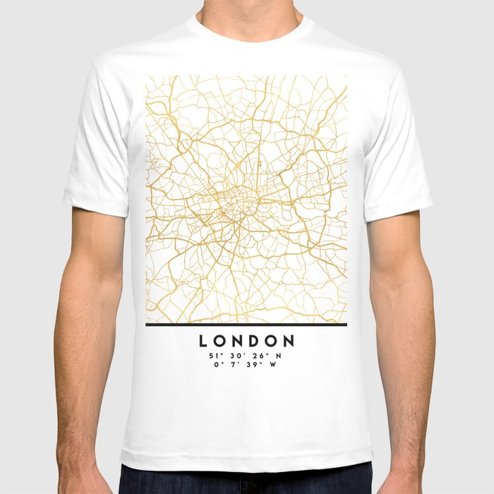 Map Of Just England.London England City Street Map Art T Shirt By Deificusart