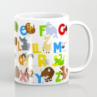 spanish Mugs featuring ABC (spanish) by Alapapaju