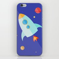 spaceship iPhone & iPod Skins featuring Spaceship by Marta Perego