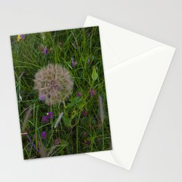 Field of flowers and Dandelions Stationery Cards