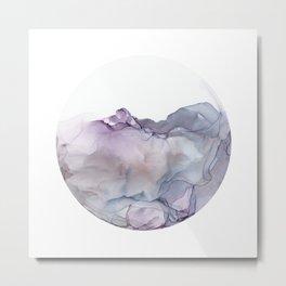 alcohol ink - wispy lavender and blue 3 Metal Print