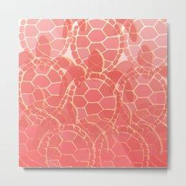 Red Turtle Metal Print