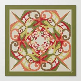Thanksgiving Mandala - Fall Colors Canvas Print