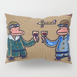 Wine Apes: Flying Aces Pillow Sham