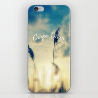 carpe diem iPhone & iPod Skins featuring Carpe Diem by Sandra Arduini