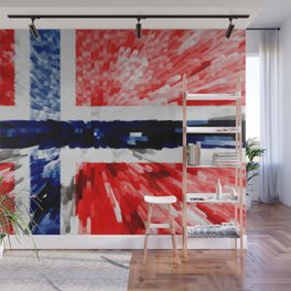 Extruded Flag of Norway Wall Mural
