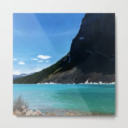 Landscape of Lake Louise Metal Print