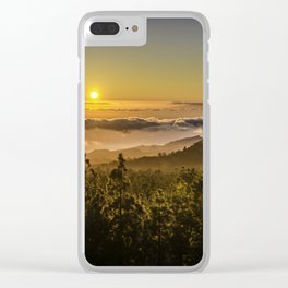 Sunset at 1800m Clear iPhone Case