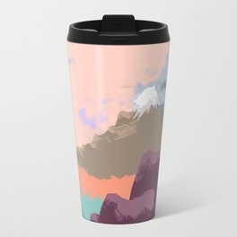 Pink Sky Mountain Travel Mug