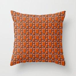 8-bit bricks Throw Pillow